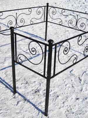 Ограда металлическая Б111