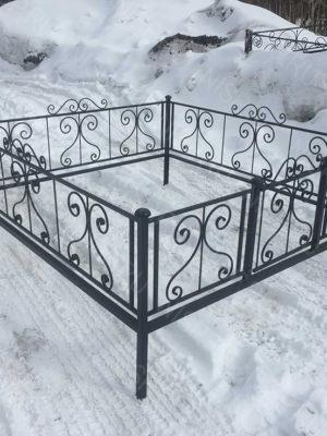 Ограда металлическая Б1110