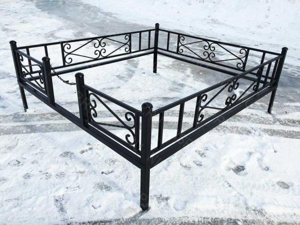 Ограда металлическая Б1111