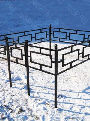 Ограда металлическая Б114