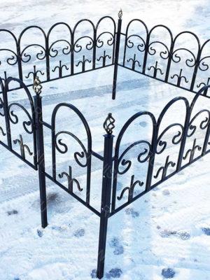 Ограда металлическая Б1115