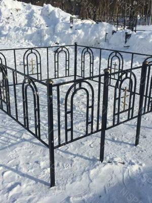 Ограда металлическая Б1118