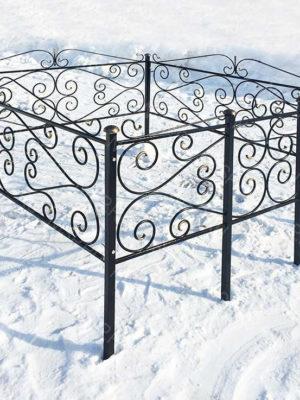 Ограда металлическая Б1119