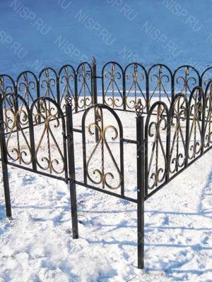 Ограда металлическая  Б1123
