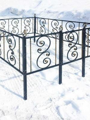 Ограда металлическая Б1126