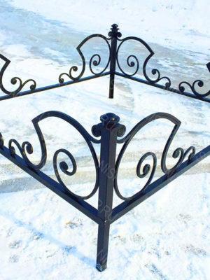 Ограда металлическая Б1128