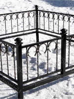 Ограда металлическая Б1130
