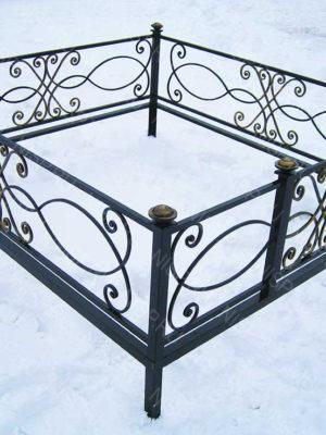 Ограда металлическая Б1133